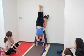 Hitomi practice teaching Adho Mukha Vrksasana
