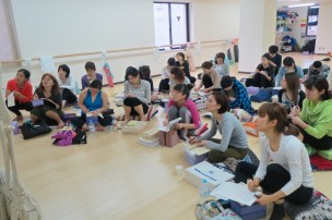 Students taking notes, Tokyo 2013