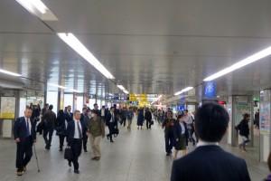 Yokohoma Station, 10p.m.