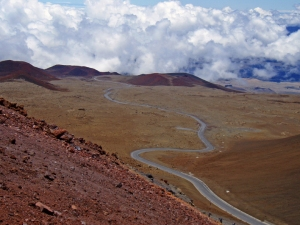 Mauna Kea Summit Road, photo by Donnie MacGowan